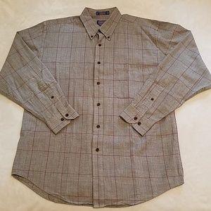 PENDLETON  Size L Cotton Wool Blend Plaid Shirt